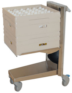 Broschyr korg, brick och dispenservagnar